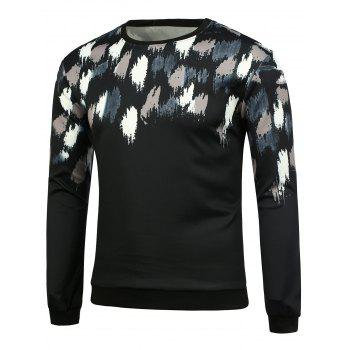 Crew Neck Paint Splatter Sweatshirt