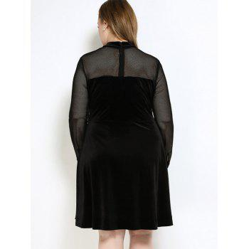 Velvet A Line Plus Size Dress - 6XL 6XL