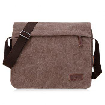Casual Canvas Flapped Messenger Bag