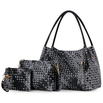 3 Pieces Woven Shoulder Bag Set