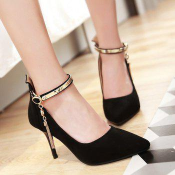 Ankle Strap Tassels Pumps