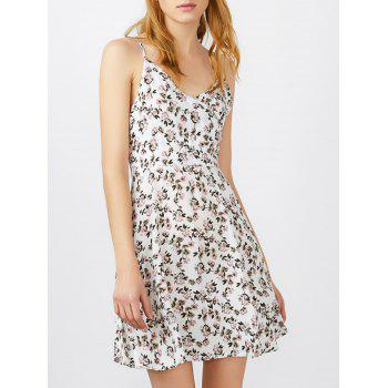 Spaghetti Strap Tiny Floral Print Mini Sundress