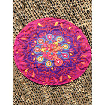 Ethnic Waterdrop Print Ombre Round Beach Cover Throw - ROSE MADDER ROSE MADDER