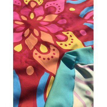 Ethnic Waterdrop Print Ombre Round Beach Cover Throw - AZURE ONE SIZE
