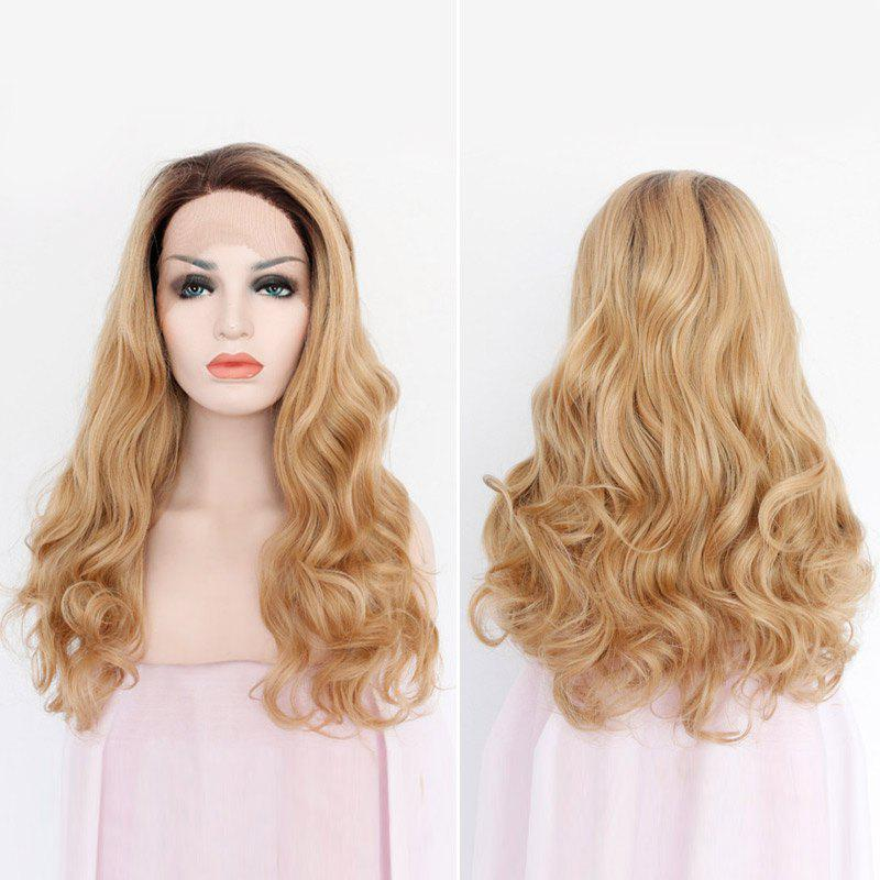 Synthetic Long Side Part Wavy Lace Front Hair Wig