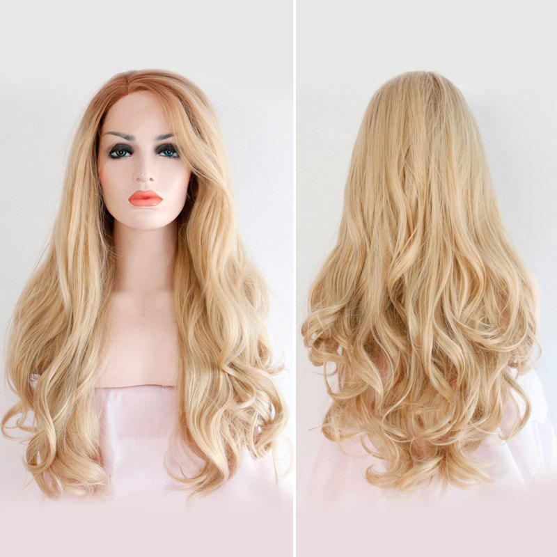 Long Wavy Side Parting Lace Front Synthetic Hair Wig