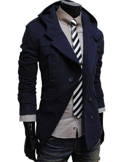 Capuche double breasted Caban - Cadetblue 2XL