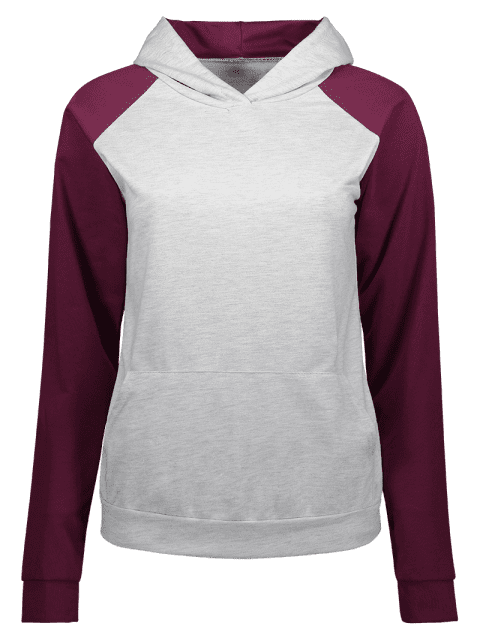 Raglan manches Two Tone Hoodie - multicolore S
