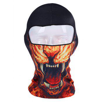 Printed Breathable Bicycle Head Mask Cap