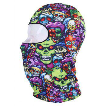 Quick Drying Printed Cycling Head Mask Cap - PURPLE