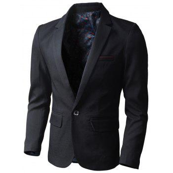 Flap Pocket One Button Blazer