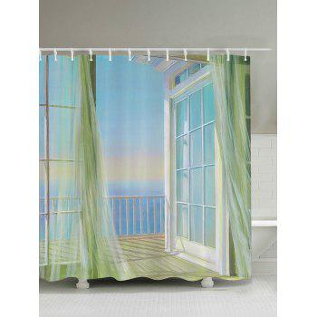 Bath Decor Balcony Seascape Print Shower Curtain