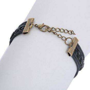 Layered Life Tree 8 Shape Bracelet - BLACK