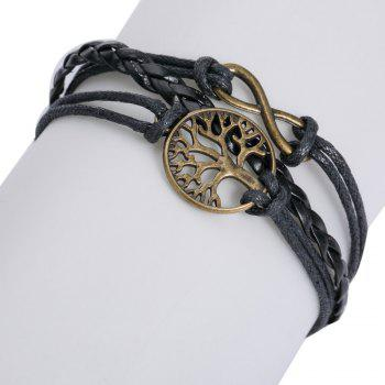 Layered Life Tree 8 Shape Bracelet