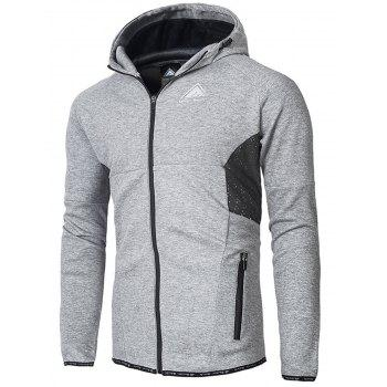 Pocket Zip Up Hoodie