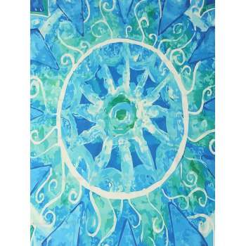 Rectangle Sunbath Printed Beach Throw - BLUE ONE SIZE