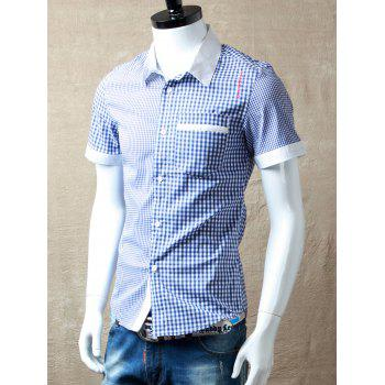 Gingham Panel Pocket Shirt