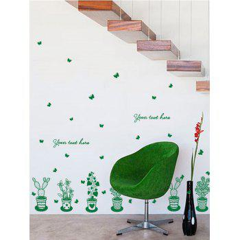Greenery Glass Window Wall Stickers