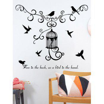 Concise Style Bird Wall Stickers