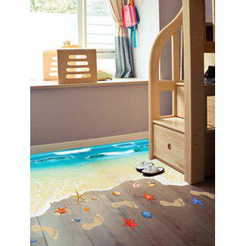 Floor Decor Beach Pattern Wall Sticker