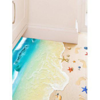 Floor Decor Beach Pattern Wall Sticker - LAKE BLUE 60*90CM