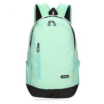 Casual Side Pockets Nylon Backpack - GREEN GREEN