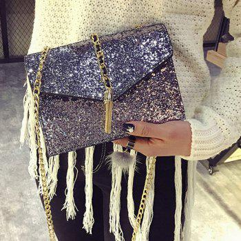 Chains Sequin Tassel Crossbody Bag