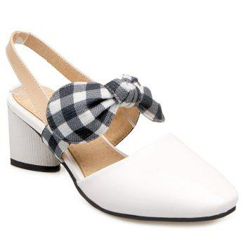 Chunky Heel Bowknot Pumps