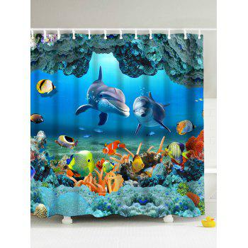 3D Print Underwater World Fish Shower Curtain