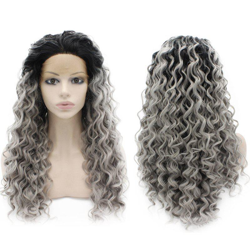 Long Curly Haircut Synthetic Lace Front Wig - COLORMIX 26INCH