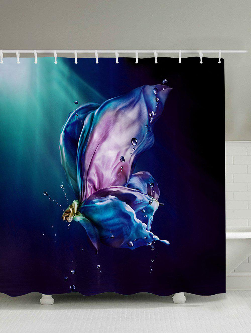 Waterproof Polyester Shower Curtain with Hooks waterproof polyester fabric shower curtain with hooks