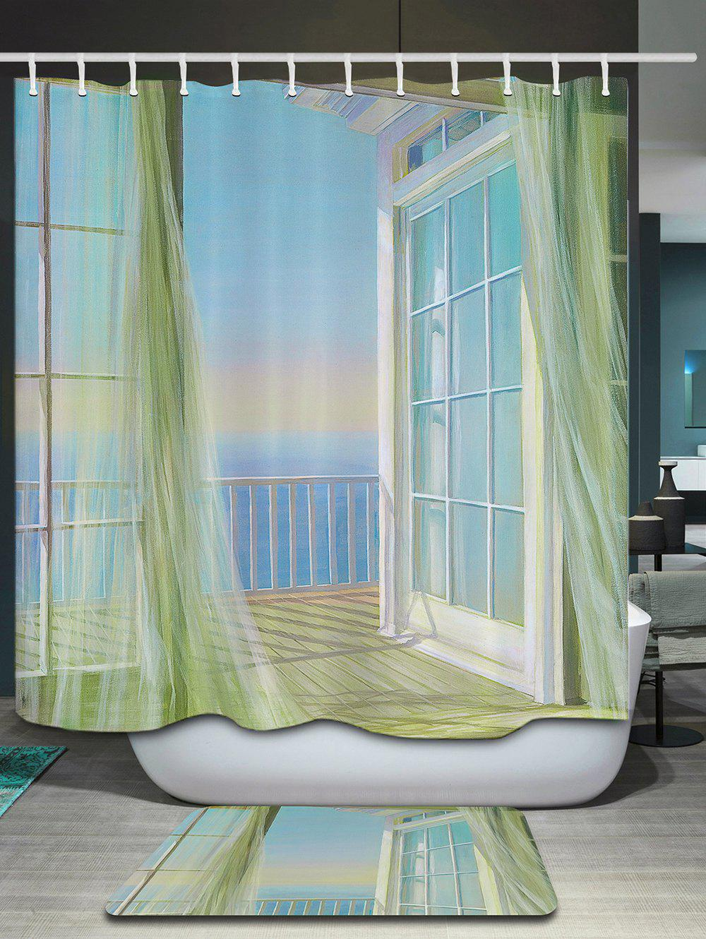 Curtain For Balcony: 2018 Bath Decor Balcony Seascape Print Shower Curtain