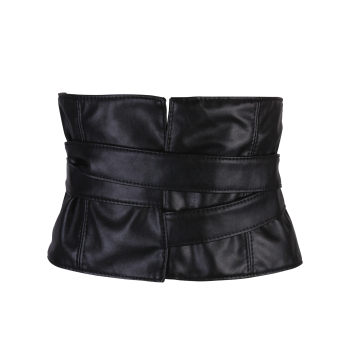 Long Adjustable Strappy PU Leather Corset Belt