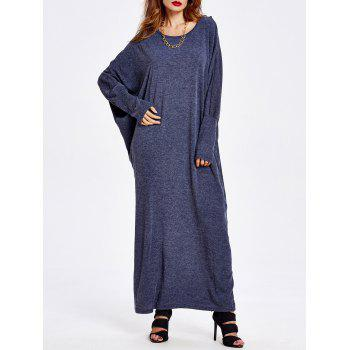 Oversized Dolman Sleeve Knitted Dress