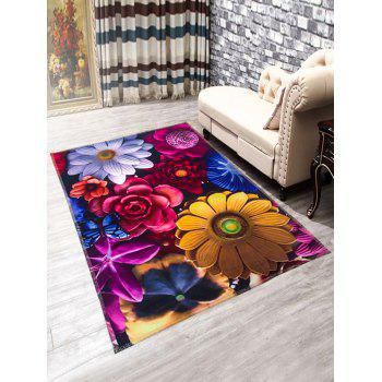 Anti-Slip Flowers Doormat Carpet