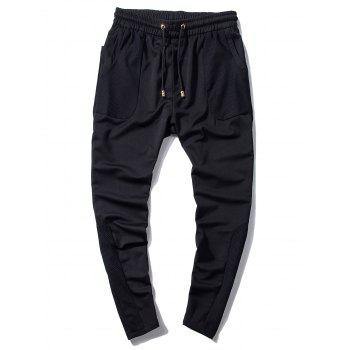 Drawstring Mesh Panels Sweatpants