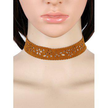 Hollow Out Flower Choker Necklace