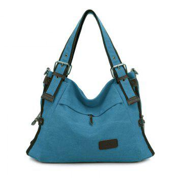 Canvas Buckles Shoulder Bag