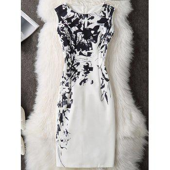 Printed Sleeveless Knee Length Bodycon Dress