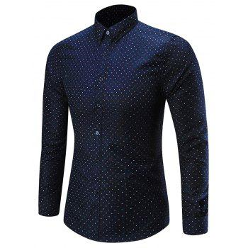 Dots Pattern Long Sleeve Shirt