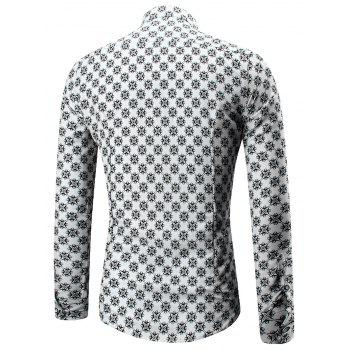 Long Sleeve All Over Print Shirt - COLORMIX 2XL