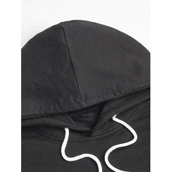 Pullover Embroidery Hoodie - BLACK M