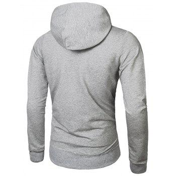Pullover Embroidery Hoodie - LIGHT GRAY 2XL
