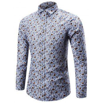 Long Sleeve Tiny Floral Paisley Shirt