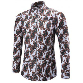 Long Sleeve Paisley Pattern Shirt