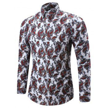 Paisley Pattern Long Sleeve Shirt