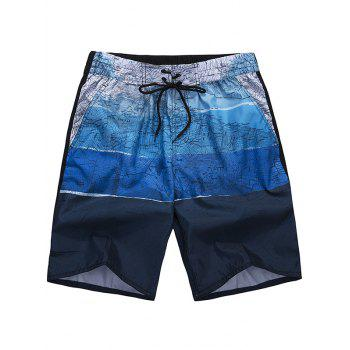 Drawstring Graphic Board Shorts