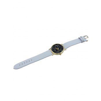 Math Equation Analog Watch - Blanc
