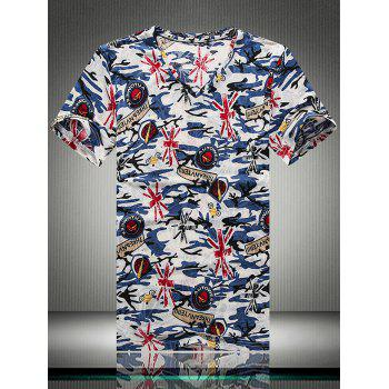 Breathable Camouflage Graphic Print T-Shirt