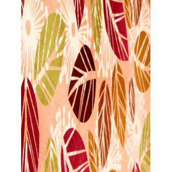 Palm Leaves Pattern Antiskid Absorbent Rug - LIGHT KHAKI 50*80CM